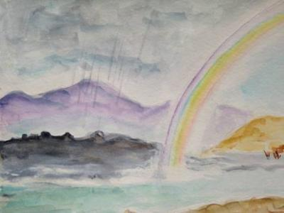 Chantal Merveilleux arc-en- ciel aquarelle